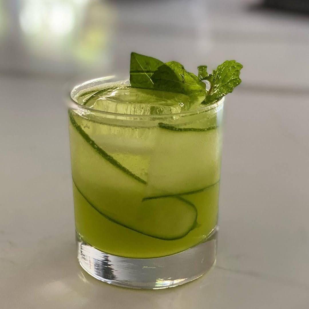 Cucumber Basil Gin Gimlet